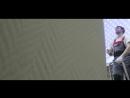 Натяжной потолок с парящими полосами и скрытой фотопечатью