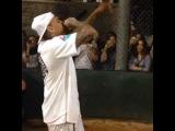 Chris Brown Singing LOYAL At His & Quincys Kick Ball Game