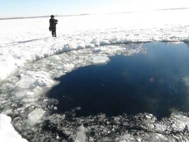 В озере Чебаркуль найдены фрагменты метеорита
