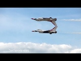 Incredibly air show by U.S.A.F Thunderbirds with F-16 Fighting Falcon
