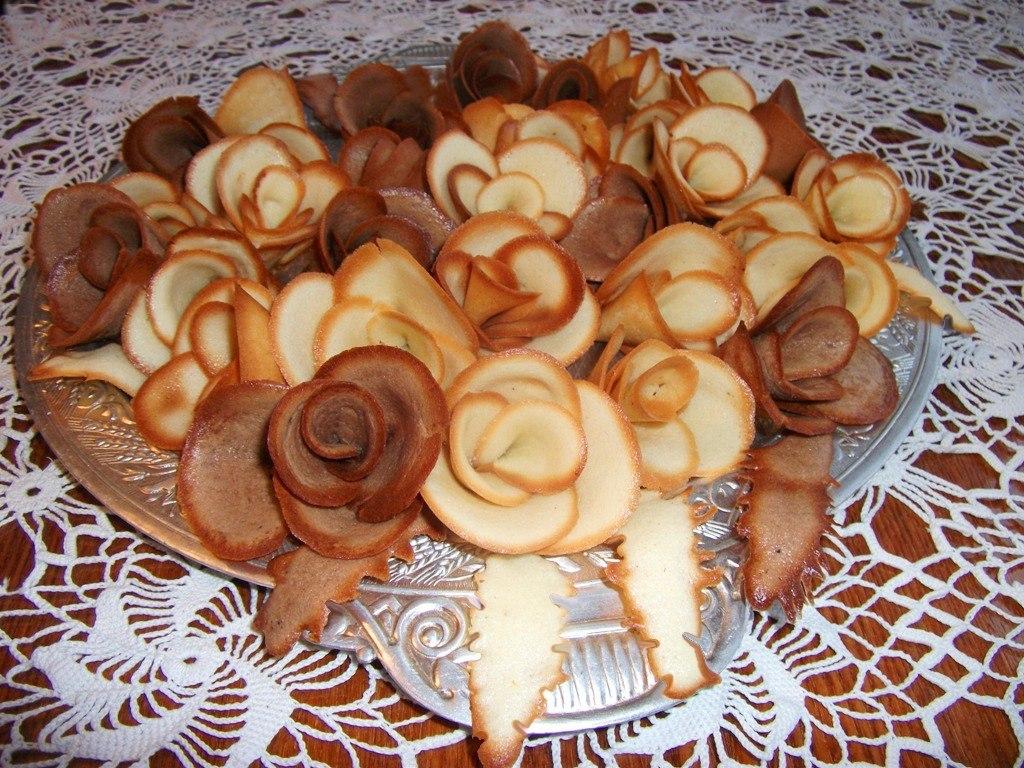 Розы из теста рецепт