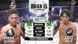 Luta no peso mosca entre Breno Oliveira x Luiz Paulo Barbosa - Brabos Combat 2