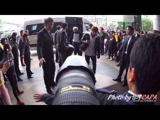 BTS방탄소년단防彈少年團在君品酒店門口拍攝記錄by CAPA 20150307