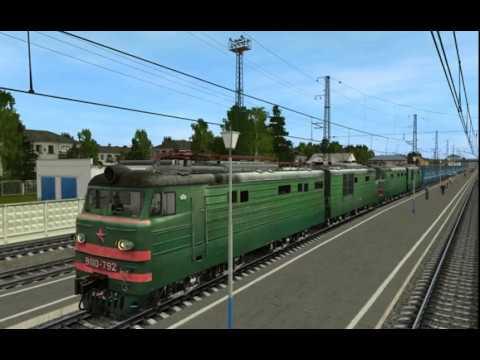 Запуск двух электровозов ВЛ10-792 и ВЛ10-541 по СМЕТ и двойной тяге
