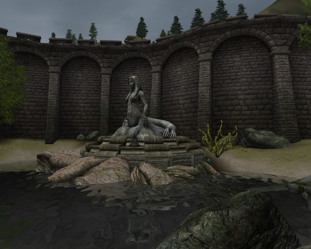 Статуя русалки Селке Анвил