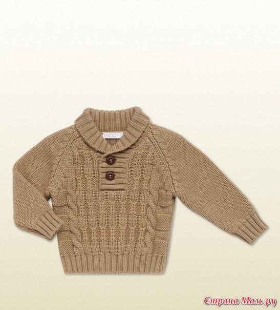 Пуловер для мальчика. Вязание онлайн. (9 фото)