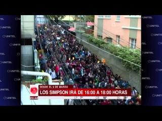 Centenares de personas en Bolivia a reclamar que los Simpson vuelvan a su horario habitual