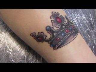 корона почти зажила, заживляем мазью для татуировок - Ok!Tattoo-healing