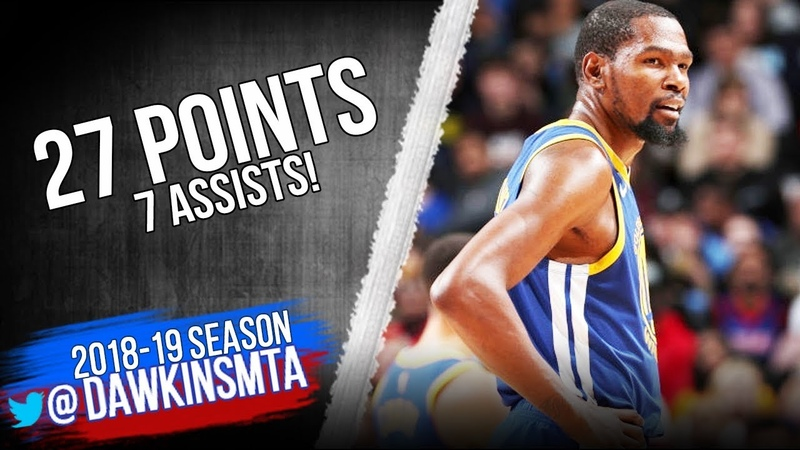 Kevin Durant Full Highlights 2018.12.01 Warriors vs Pistons - 28 Pts, 7 Asts! | FreeDawkins