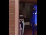 Postcard from France - African migrants hits french girl