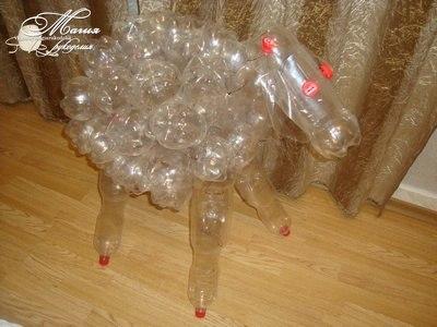 Животные пластиковых бутылок своими руками мастер класс