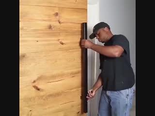 Откатная деревянная дверь своими руками - vk.com/tricks_lf