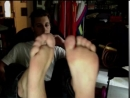 young teen showing smelly feet cam