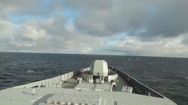 Зенитные ракетные стрельбы фрегата Адмирал Горшков