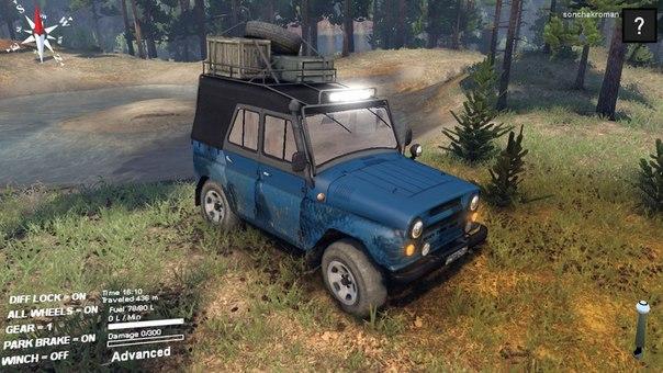 "Мод ""УАЗ-31512"" для Spin Tires 2014"