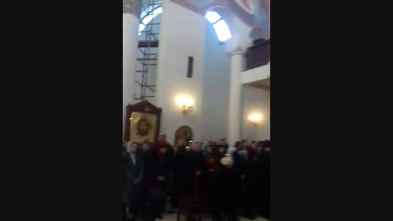 Софийский собор. Служба