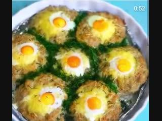 Котлеты с яйцом