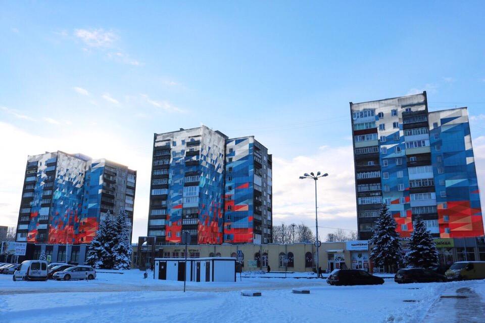 Жителям  высоток в Советске предложили скинуться на покраску фасада