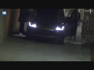 Video of justin and hailey baldwin leaving the saban theatre in beverly hills, california. (october 31)