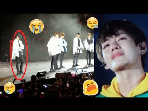 BTS V Accident while Performing on Stage (All Scenes)