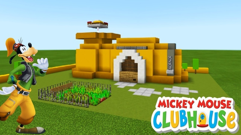 Minecraft Tutorial: How To Make Goofys House from Mickey Mouses Clubhouse Goofy House Tutorial