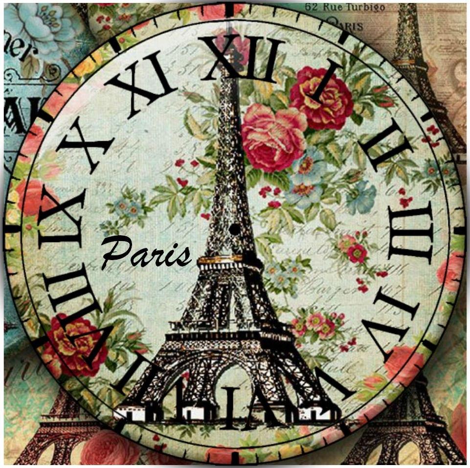 1000 images about fondos de reloj vintage o shabby chic - Reloj adhesivo de pared ...