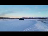 Tesla Model 3 Performance testing in the snow in Alaska