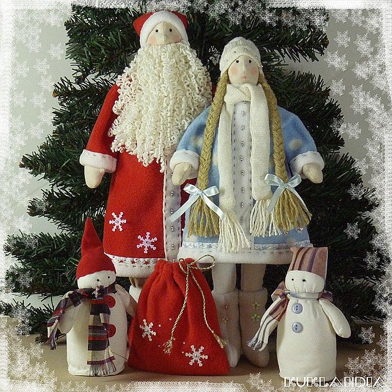Дед мороз тильда своими руками из ткани