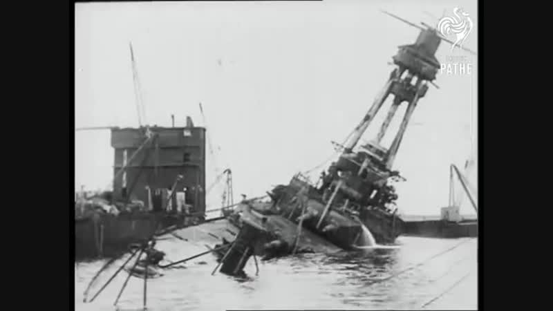 Sunken WWI German Battleship Raised SMS Hindenburg (1924) | British Pathé