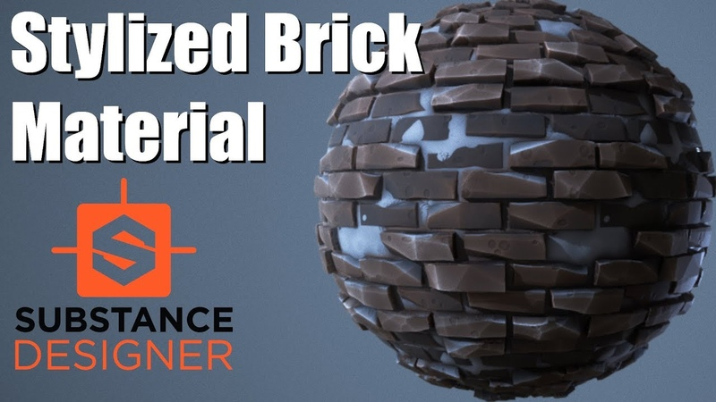 Substance Designer 21 - Stylized Brick Material