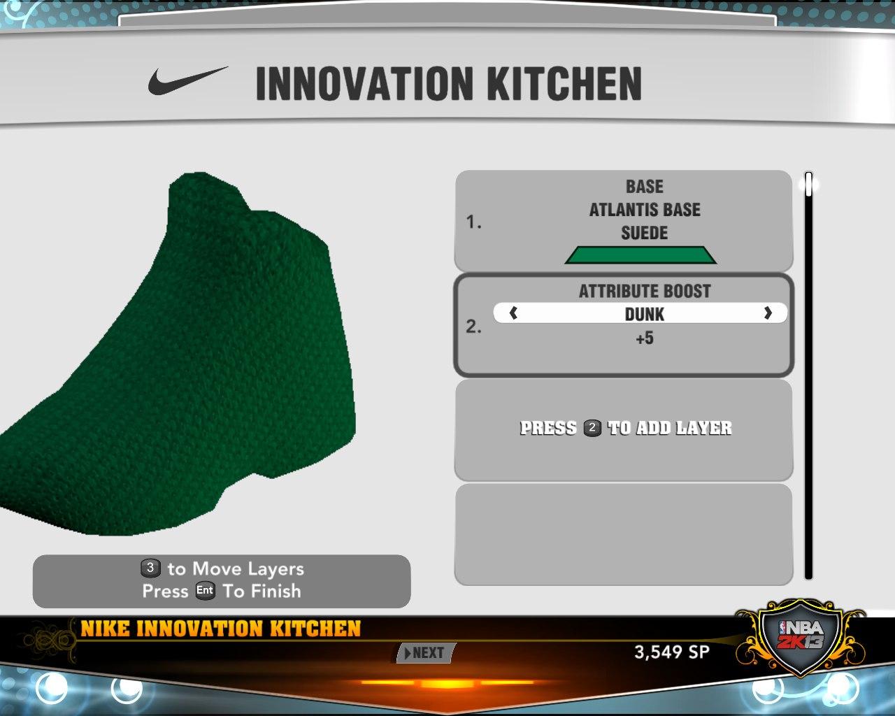 Выберем цвет новых кроссовок в нба2к13