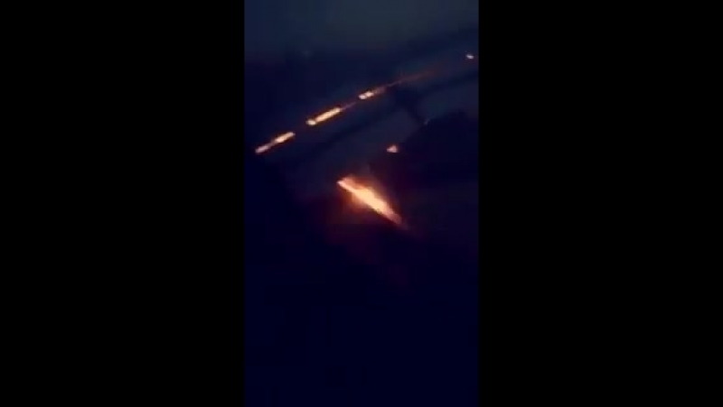 Saudi Arabia's team plane landing in Rostov On Don for their WorldCup match