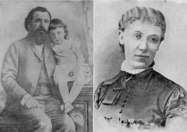Легендарный хирург Н.В. Склифосовский с дочерью Тамарой и его жена Софья.