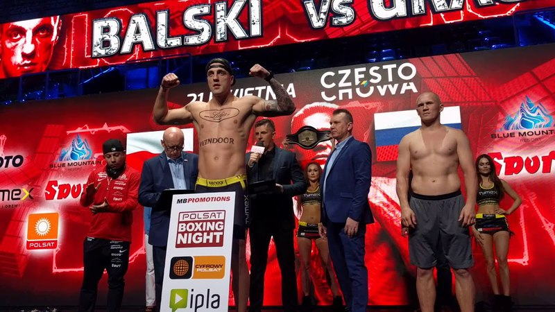 Balski-Grachev weigh in, Częstochowa boxing