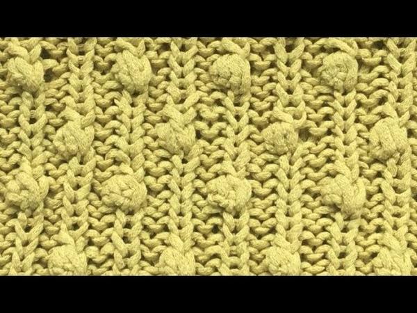 Шёлковый свитер Схема узора шишечки