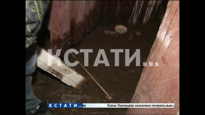 После подачи отопления в доме на улице Бекетова обрушился пол