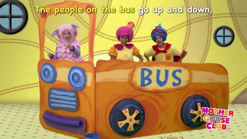 The Wheels on the Bus Go Round and Round - Mother Goose Club Songs for Children