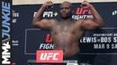 UFC Wichita: Headliners Derrick Lewis, Junior Dos Santos make weight