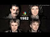 QUEEN AGING TOGETHER 1968-2018 Faces &amp Songs One Per Year