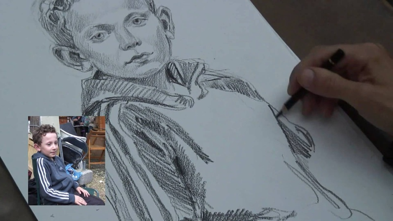 Portrait sketch demonstration no.2 by Gezer of Montmartre