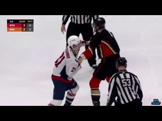 Erik gudbranson finally gets to fight garnet hathaway, payback for being spit on time they played