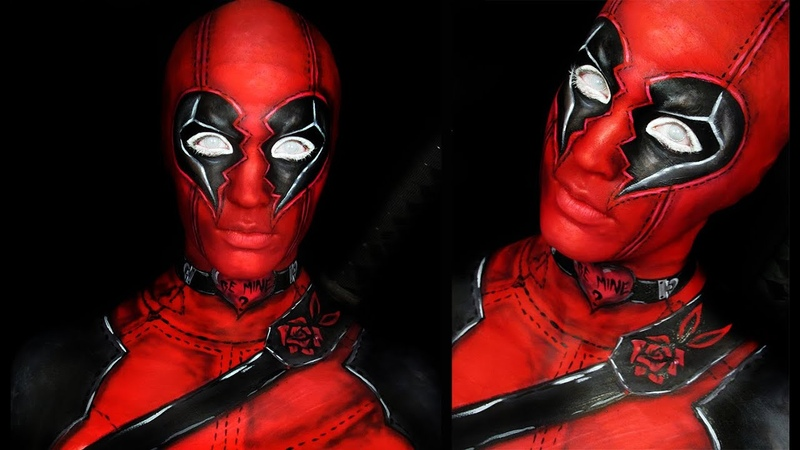 DEADPOOL | Valentine Style | Makeup Tutorial