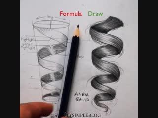 Учимся рисовать локоны. Для начинающих