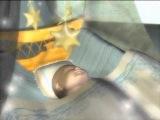 Колыбелька и аист - рождение ребенка - футаж заставка для детского видеомонтажа