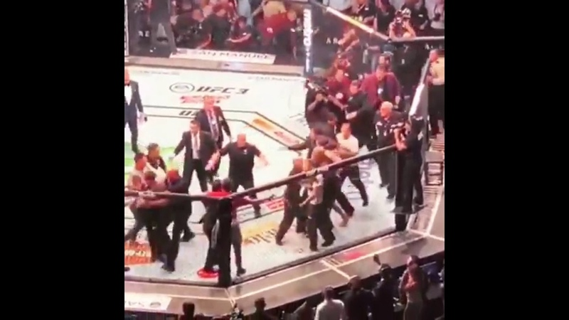МАССОВАЯ ПОТАСОВКА С УЧАСТИЕМ ХАБИБА И МАКГРЕГОРА НА UFC 229 | FightSpace
