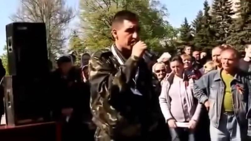 Луганск 4 мая 2014 г Мобилизация Дойдем до Польской границы