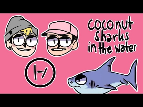 Coconut sharks in the water - tøp ukulele cover w animation