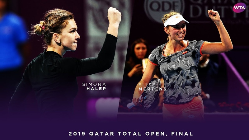 Simona Halep vs Elise Mertens 2019 Qatar Total Open Final WTA Highlights