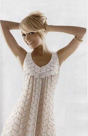 Уроки вязания крючком пляжного платья