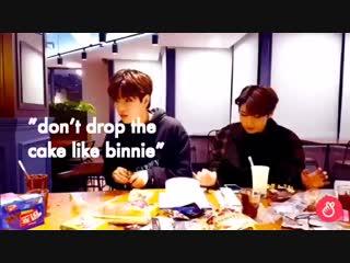 don't drop the cake like binnie